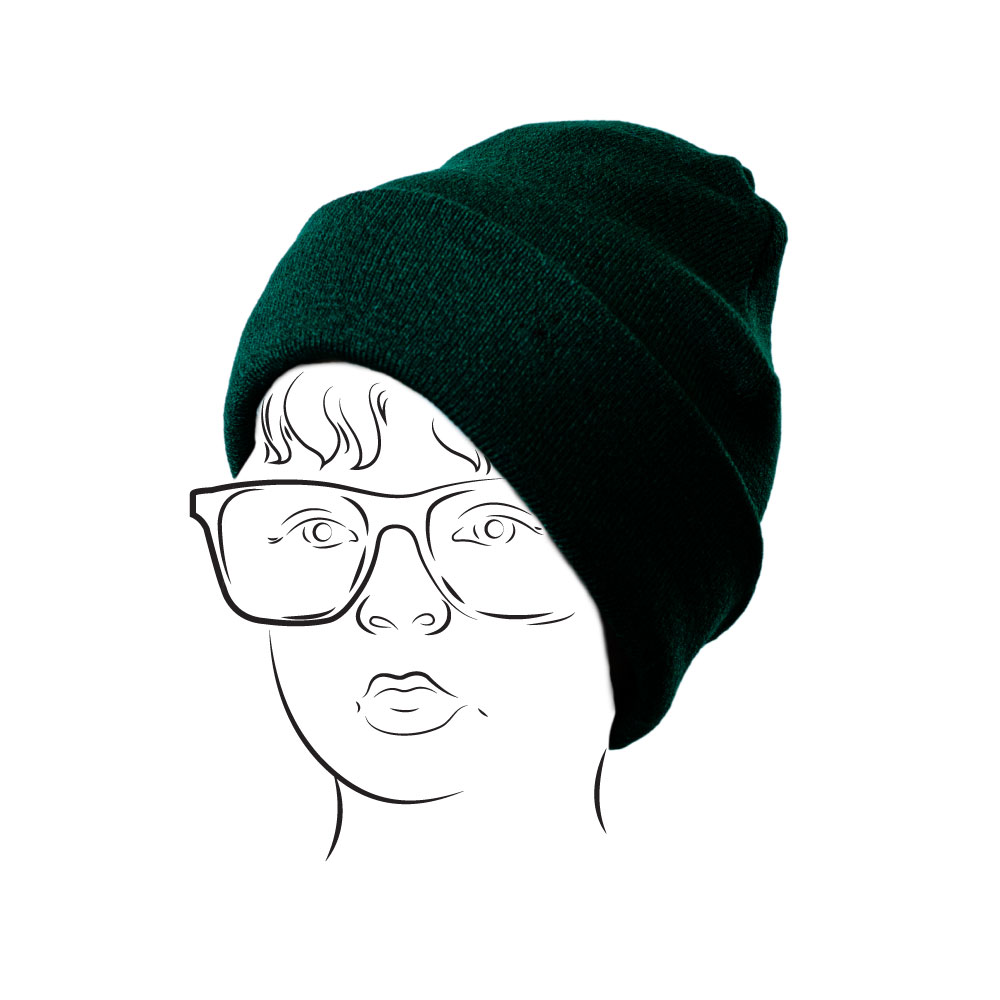 Beanie – Plain with Turn-up Bottle
