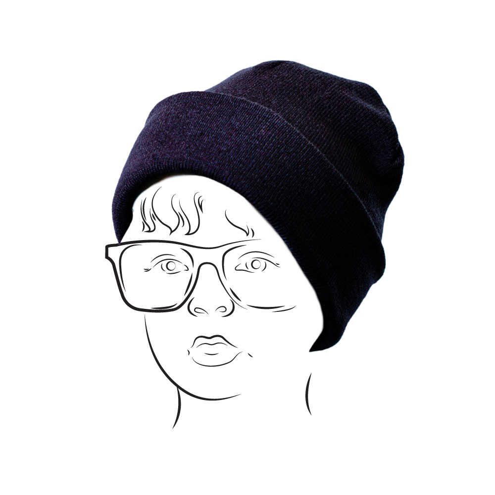 Beanie – Plain with Turn-up Navy